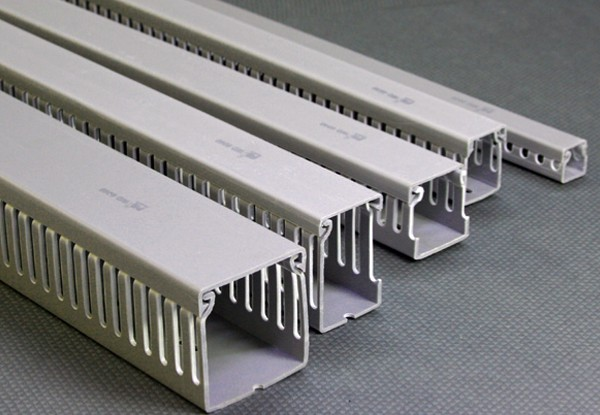 Wire Duct Slotted Type PRI WD2020 สีเทา